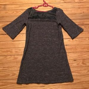 THML Comfy knit dress with faux black leather